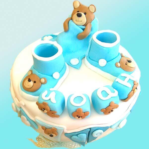 Бебешка торта с пантофки и мечета B04 - Dolce Mela