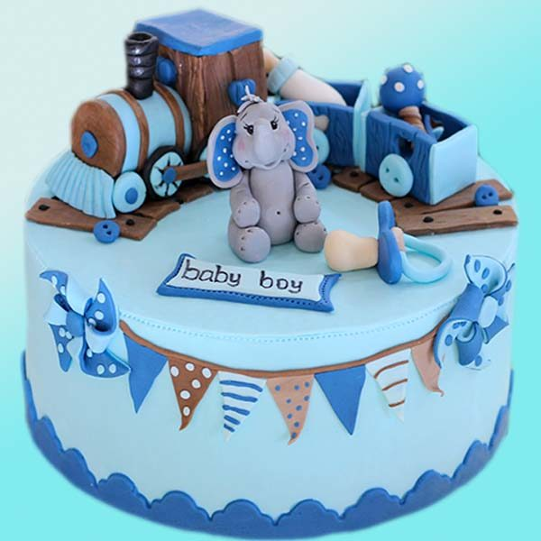 Бебешка торта със слонче B07 - Долче Мела