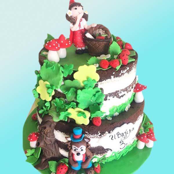 Детска торта с Червената шапчица D05 - Dolce Mela