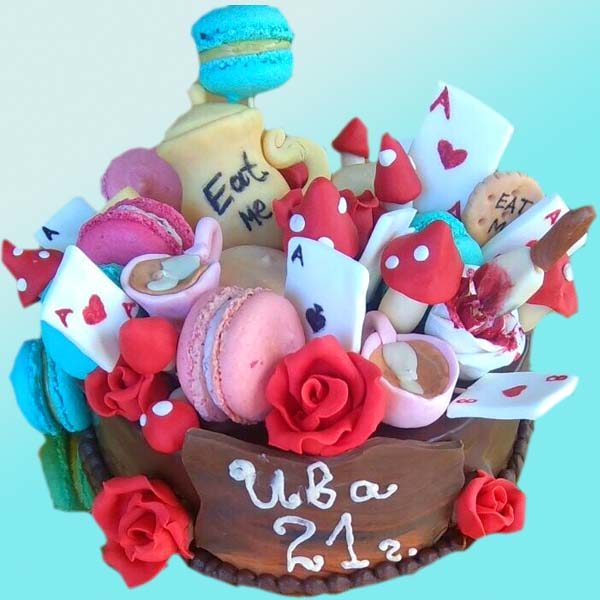 Детска торта Алиса в страната на чудесата D07, Dolce Mela