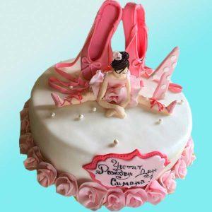 Детска торта с балерина D08, Dolce Mela