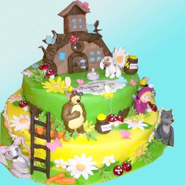 Детска торта Маша и мечока D17 - Долче Мела в Пловдив