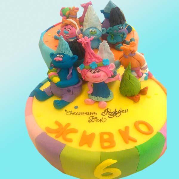 Детска торта Тролчета D32 - Dolce Mela