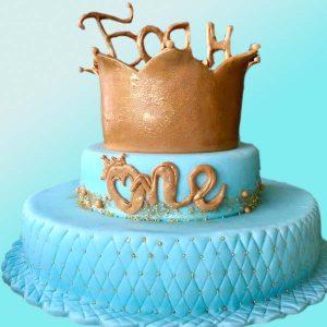Торта с корона на два етажа RD02, Dolce Mela