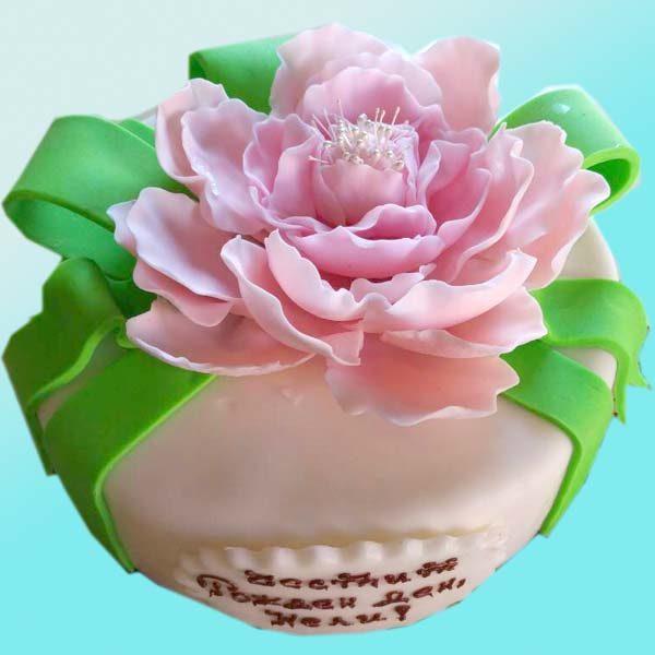 Торта с цвете божур RD05 от сладкарница Dolce Mela