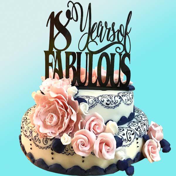 Торта 18 рожден ден - RD18 от сладкарница Dolce Mela