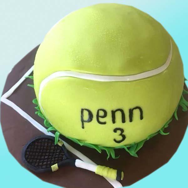 Тенис торта за рожден ден RD22 от сладкарница Dolce Mela