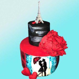 Торта Айфелова кула, RD25 от бутикова сладкарница Dolce Mela