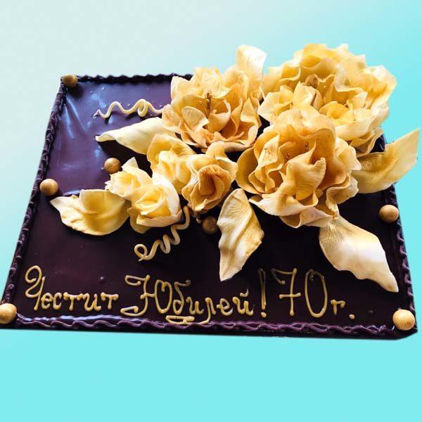 Торта Златни цветя RD30, от сладкарница Dolce Mela