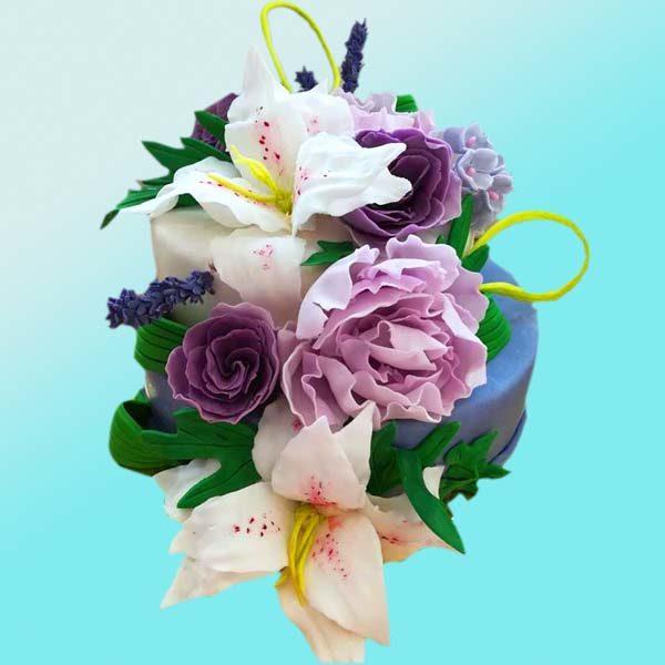 Торта букет цветя RD42, от бутикова сладкарница Dolce Mela