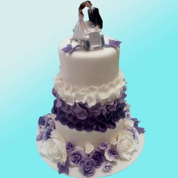 Сватбена торта в лилаво SV11 - Dolce Mela
