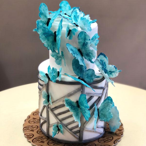 Бутикова торта с пеперуди от Dolce Mela