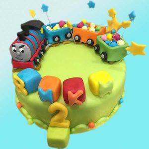 Детска торта с влакче и вагончета D02 от Dolce Mela