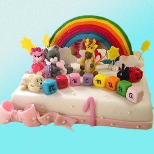 Детска торта с животни D04 - Dolce Mela