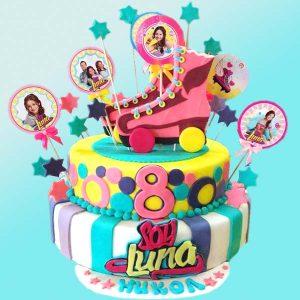 Детска торта Сой Луна с кънки, D16 - Dolce Mela