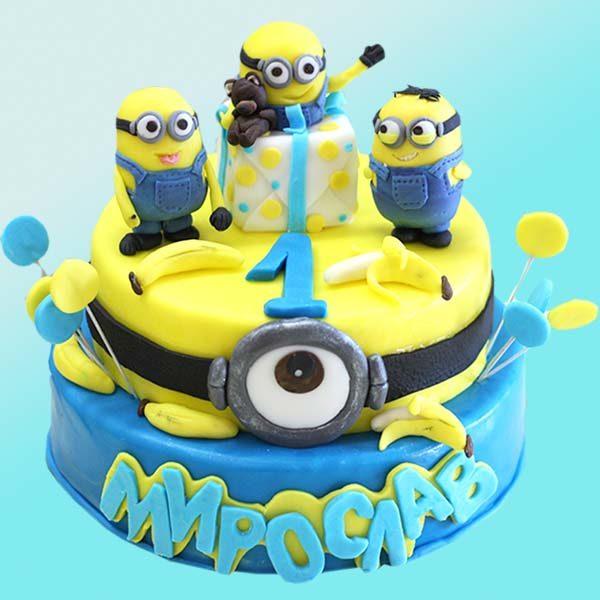 Детска торта Миньони D22 - Dolce Mela