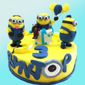 Детска торта с Миньоните D23 от сладкарница Dolce Mela
