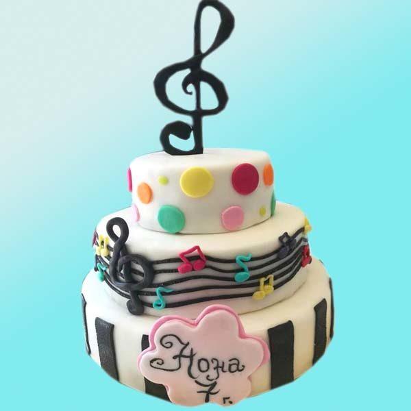 Музикална детска торта D24 - Dolce Mela