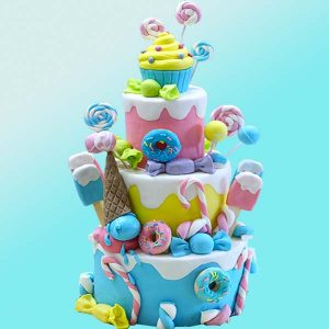 Детска торта Сладоледени вълшебства D27 - Dolce Mela