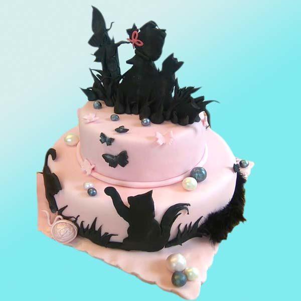 Детска торта с котка D31 от Dolce Mela