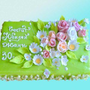 Торта за рожден ден с рози и маргаритки RD01, Dolce Mela