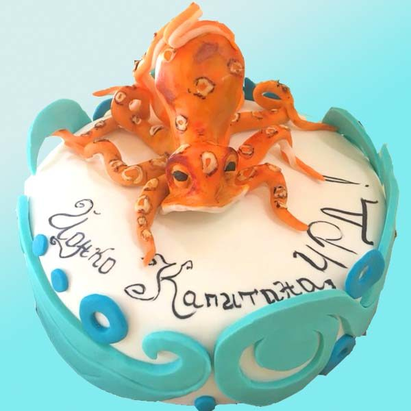 Торта Октопод - RD09 от бутикова сладкарница Dolce Mela