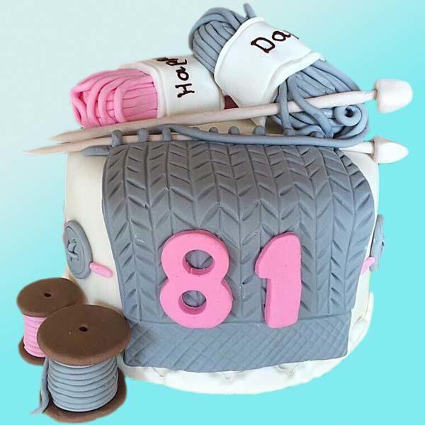 Торта прежда и плетива за рожден ден, RD26 от сладкарница Dolce Mela