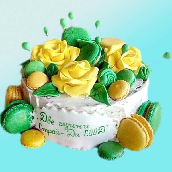 Торта с декорирани рози RD33, от сладкарница Dolce Mela
