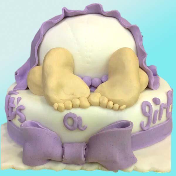 торта с бебе за shower party B08, от бутикова сладкарница Dolce Mela