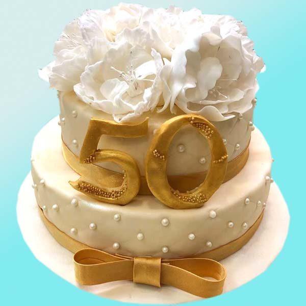 Торта Златен юбилей RD41, от бутикова сладкарница Dolce Mela