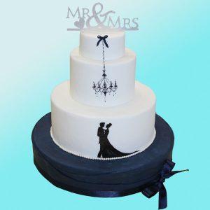 Сватбена торта младоженци SV02 - Dolce Mela