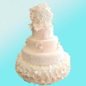 Сватбена торта Бяла приказка SV09 - Dolce Mela
