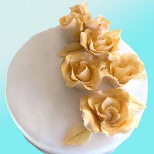 Торта Златни рози за кумове SV15 - Dolce Mela