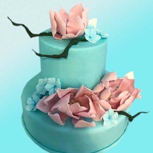 Сватбена торта в синьо SV19 - Dolce Mela